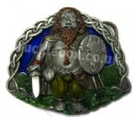 DRAGON SLAYER - WARRIOR BELT BUCKLE + display stand